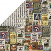 Craft & You 12x12 Scrapbook Paper - Vintage Man 5 - VM05